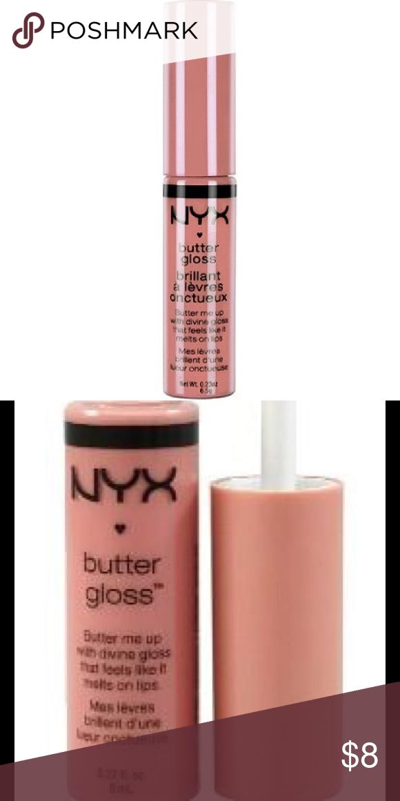 "BNWT NYX Butter Gloss in Crème Brulee Brand New with Tags! Full-Size NYX Cosmetics Butter Gloss in color ""Creme Brûlée"". Add a little more sweetness to your lips with a touch of any of NYX Cosmetic's Butter Lip Glosses available in many scrumptious colors! Get that creamy medium coverage on your lips without that sticky sensation. It's perfect for every sweet tooth! Softens and conditions lips while giving a hint of color and gloss. Retail Value: $8 NYX Makeup Lipstick"