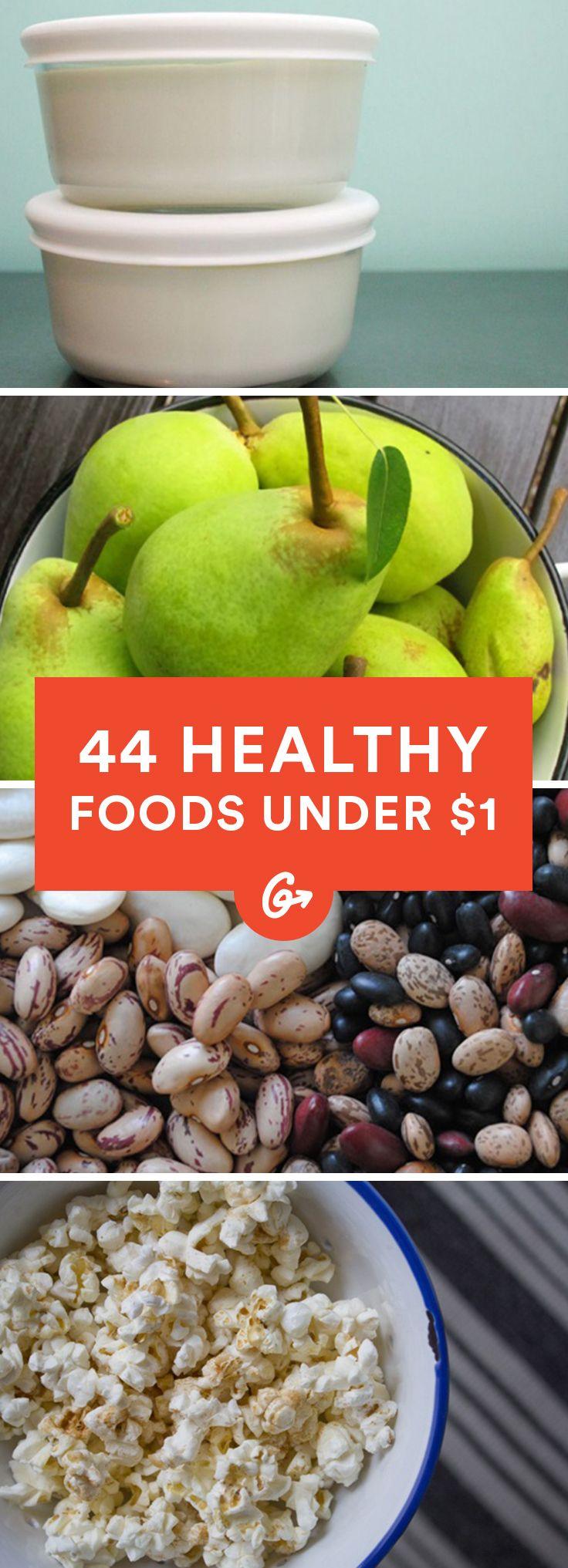 44 Healthy Foods Under $1 #cheap #healthy #foods http://greatist.com/health/44-healthy-foods-under-1