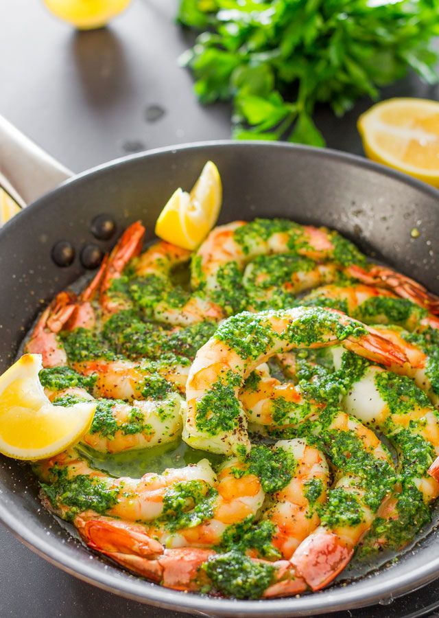 Garlic and Parsley Butter Shrimp - gorgeous jumbo #shrimp slathered in an exquisite garlic and parsley# butter and #baked to perfection.
