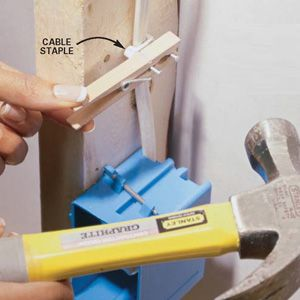 Staples For Electrical Wiring   Diy Tip Of The Day Cable Staple Holder Grabbing And Nailing