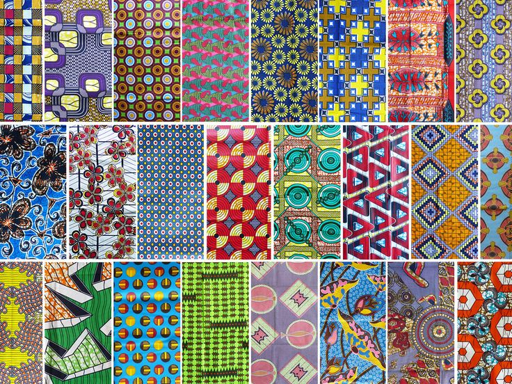 Lot 30 samples African wax fabric patterns, 20x25cm in ...