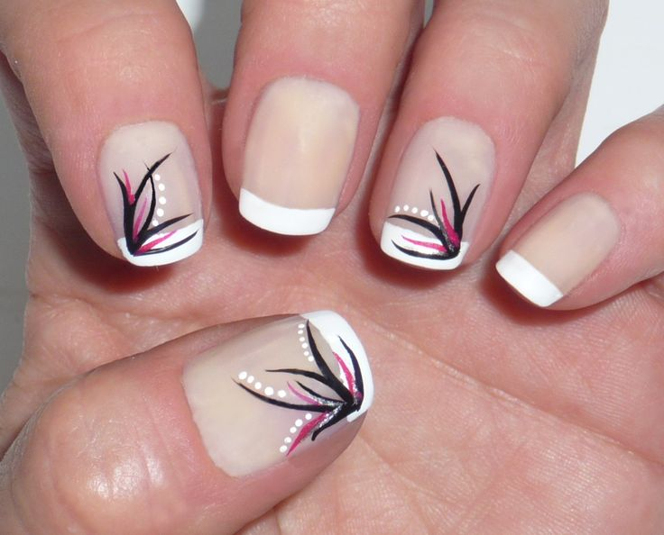 party nail designs | Party Nails – French with Elegant | Party Nails