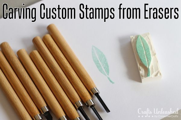 This is pretty much fantastic. Perfect for all those old erasers you don't use anymore. | How to Make Stamps from Erasers - Crafts Unleashed