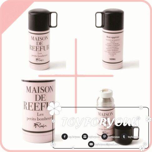 Maison de Reefur Stanless Stell Bottle 350 ML สีชมพู ราคาชิ้นละ THB 395.- สอบถามรายละเอียดได้ที่ toyforyouu@gmail.com #toyforyouu #maisondereefur