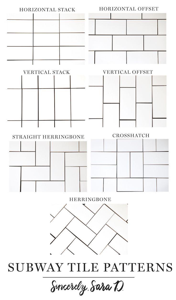 7 Different Subway Tile Patterns Patterns Subway Subwaytiles