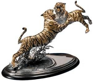 The Intruder Bengal Tiger Sculpture   Chester Fields Bronzes Inc.