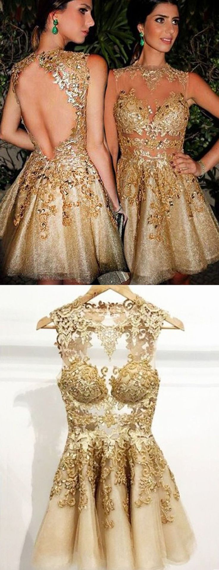 25 best ideas about gold homecoming dresses on pinterest