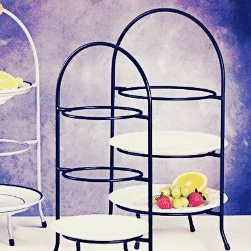 Buffet Display 3 Tier Wrought Iron Dessert Dining Cake Plates 16 5 Inch Salad 8  sc 1 st  Pinterest : buffet plate holder stand - pezcame.com