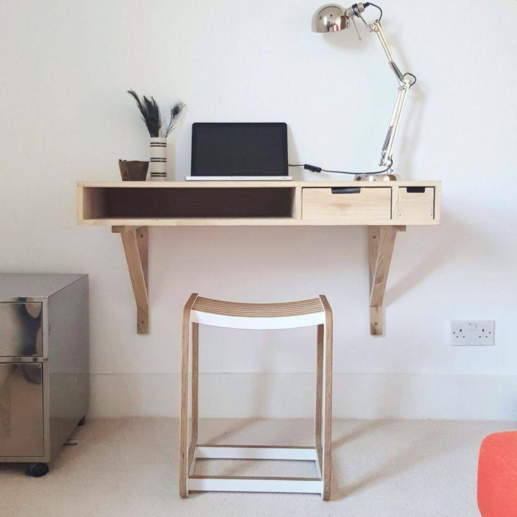 Wall Mounted Desk, Wall Desk, Solid Wood Desk, Old School, Homework, Living  Spaces, Storage Area, Desks, Keyboard