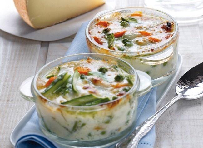 Minicocotte aux légumes primeurs et Pur Brebis Pyrénées gratiné