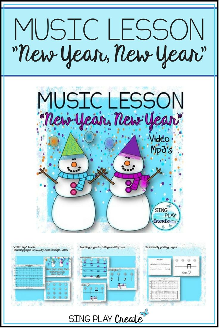 "Celebrate ""New Year, New Year"" in Orff style with fun animated video, music lessons, worksheets and fabulous graphics to wow your students and get them engaged in singing, moving and playing!"