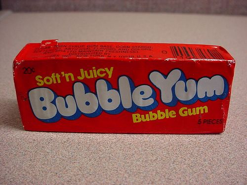 The very first advert I saw for Bubble Gum was Bubble Yum.