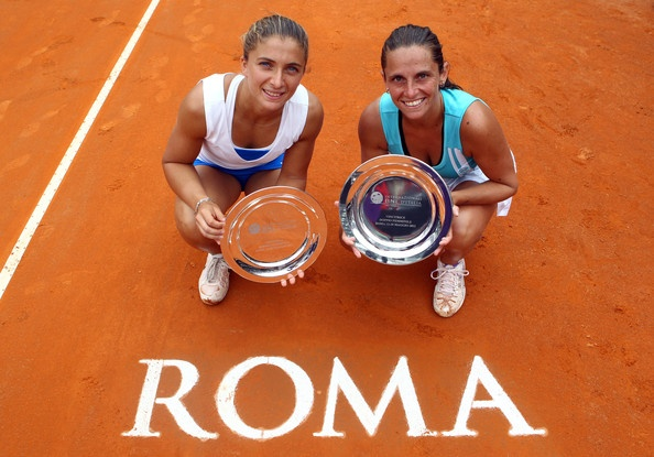Internazionali BNL d'Italia - May 20, 2012 - Doubles Champions - Roberta Vinci [Italy] & Sara Errani [Italy]