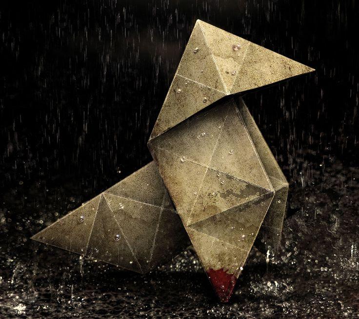 Origami Heavy Rain Wallpaper [2160 x 1920]