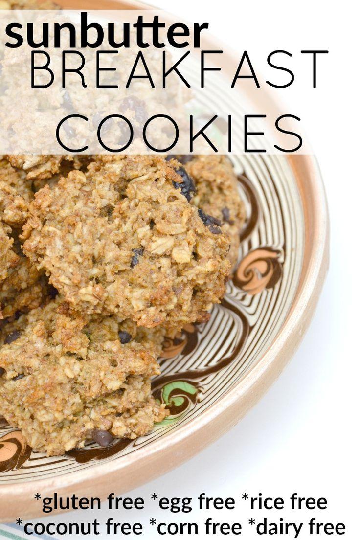 Gluten Free Sunbutter Breakfast Cookies | Recipe ...