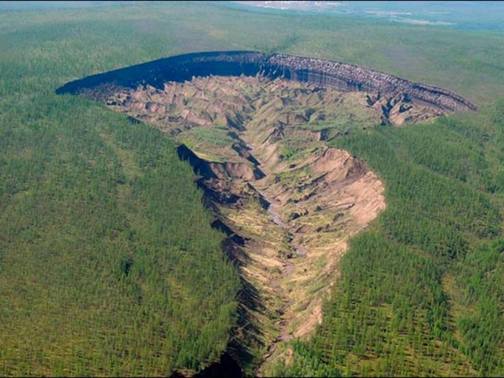 "It is known as ""the Gateway to the Underworld"" by local people who fear to go near the massive crater that suddenly appeared in the frozen heart of Siberia"