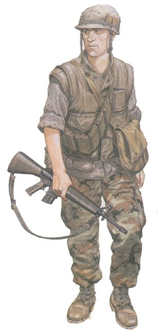 """Rifleman, 1 st Bn., 7 th USMC; MR 1, 1969"", Mike Chapell"