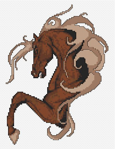 Horse cross stitch pattern free