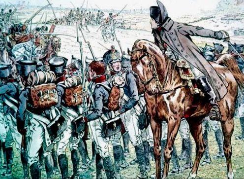Fucilieri della linea francese guidati da Napoleone - Jacques Onfroy de Bréville