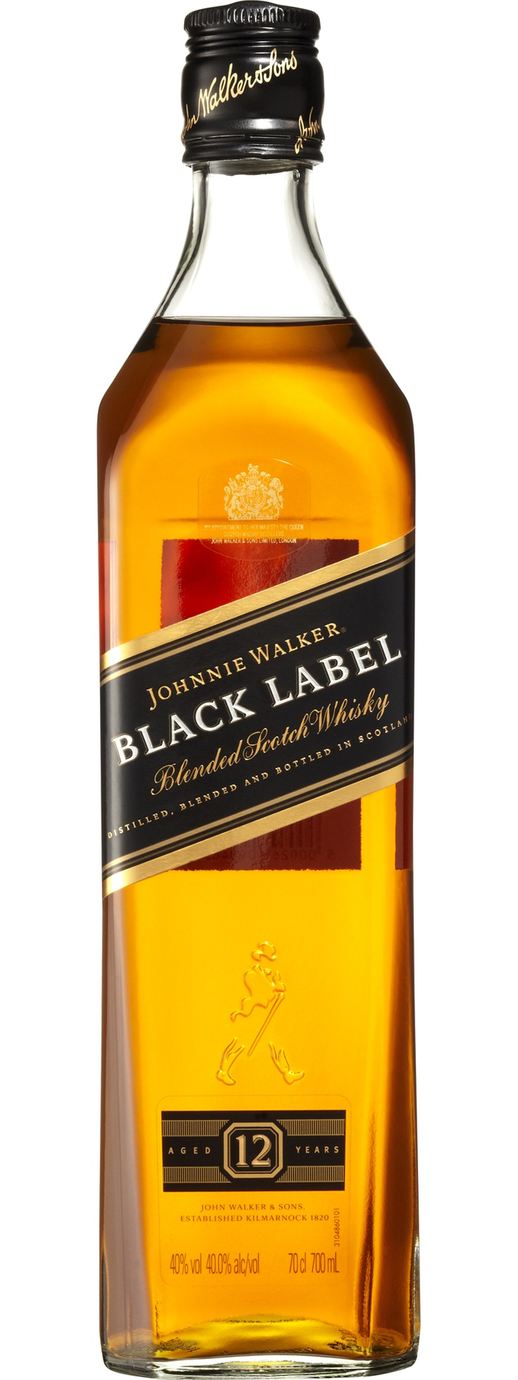 Johnnie Walker Black Label Blended Scotch Whiskey.