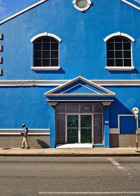 Bridgetown, Barbados, 2013 | Blue building street scene in d… | Flickr