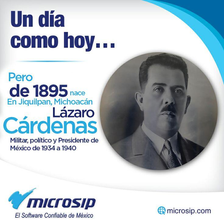 Un día como hoy, 21 de mayo, pero de 1895, nace en Jiquilpan, Michoacán, el militar y político, Presidente de México de 1934 a 1940, Lázaro Cárdenas.