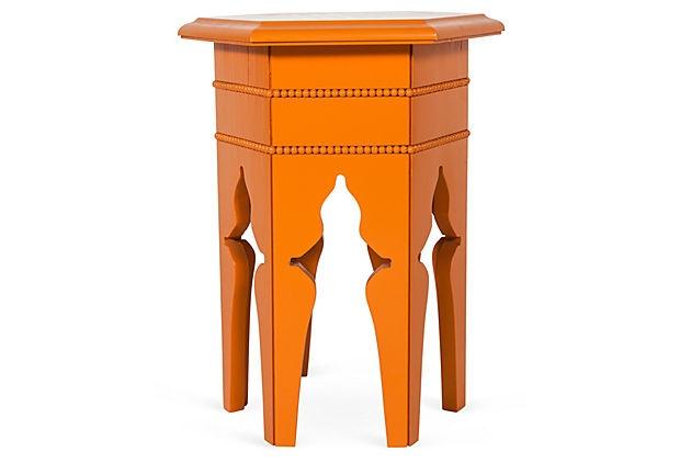 "Orange Tabouret  15.25""L x 13.5""W x 19""H  ($299.00)  $99.00  OneKingsLane.com"