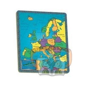 Europe continent puzzle - A colourful tray puzzle of Europe