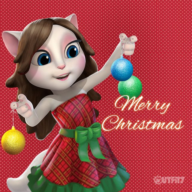 Hope all you #LittleKitties have an amazing and joyful evening with your loved ones. xo, Talking Angela #TalkingAngela #MyTalkingAngela #dress #fun #joy #happy #cute #festivetime #holidays #Xmas #Christmas #festive