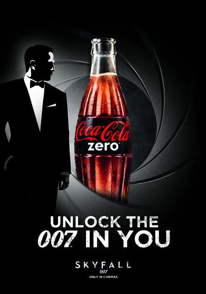 Not Zero cola!!  Coca-Cola Unveils Limited Edition 'James Bond' Series - DesignTAXI.com