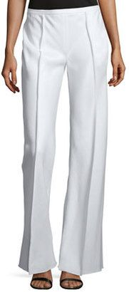 THE ROW Appel Seamed Wide-Leg Pants, Rose Cream - Shop for women's Pants - ROSE CREAM Pants
