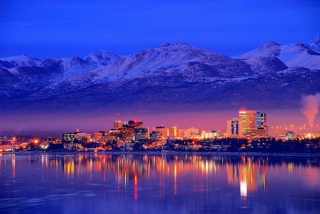Anchorage, Alaska -- Downtown Skyline