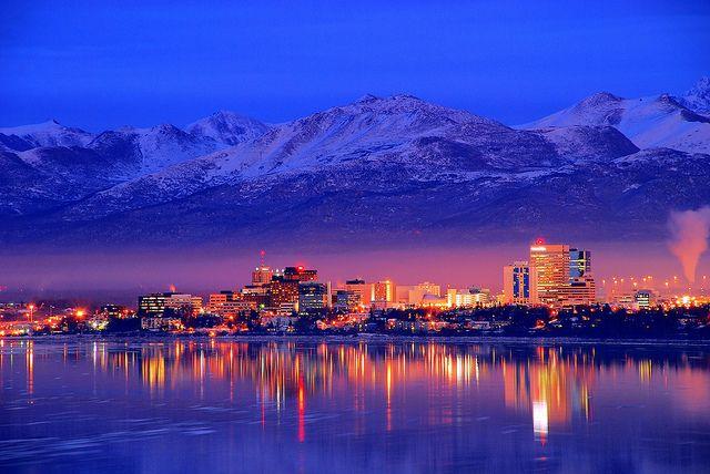 Anchorage, Alaska -- Downtown Skyline