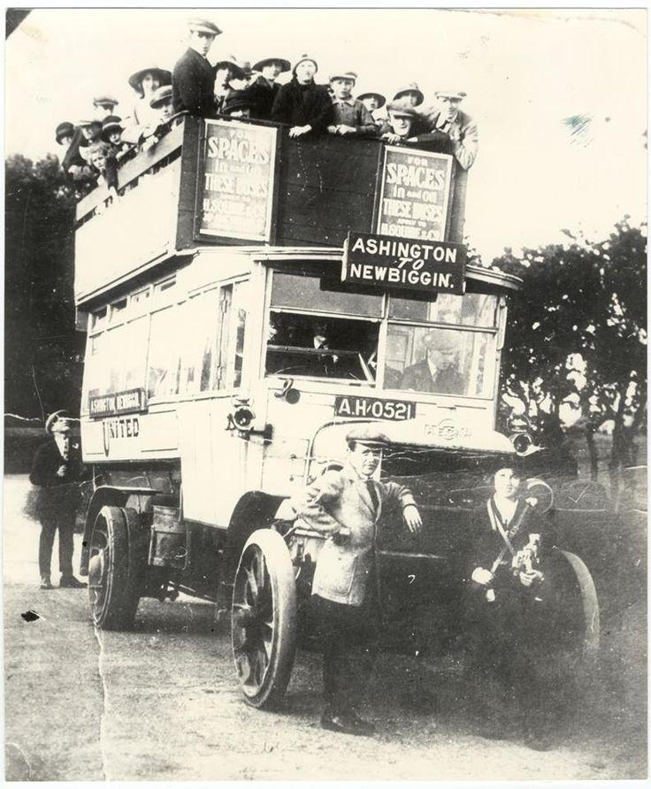 Ashington to Newbiggin United bus- c1920