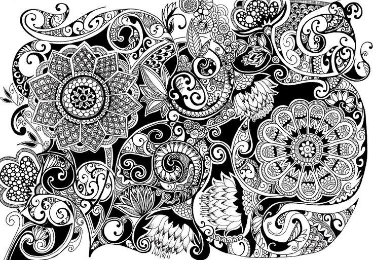 278 Best Images About Doodle Flowers On Pinterest