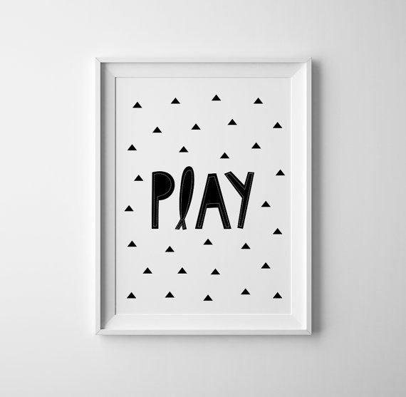 Play nursery art for the scandinave nursery. Geometric Typography Baby Nursery wall art. Gender neutral Nursery prints and baby art. Scandinavian