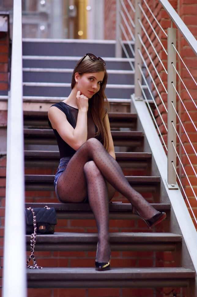 Pantyhose worn by sexy woman pictures
