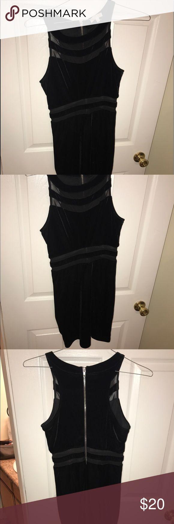 Body con dress Black Velvet/Shear Gianni Bini Bodycon Dress Gianni Bini Dresses