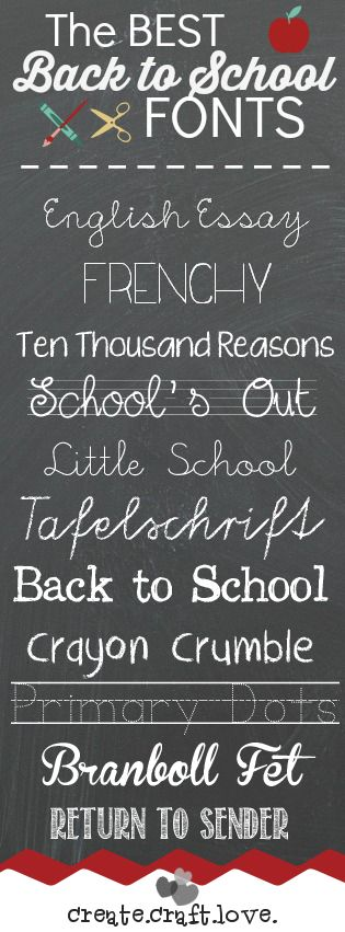 The BEST Back to School Fonts!