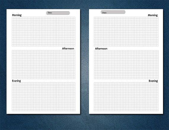 Версия для печати Планировщик, Filofax Персональный Планировщик, вставка печати Сетка Notes, чтобы сделать список, ежедневный план, школьный планировщик, Ежедневно Две страницы, Filofax