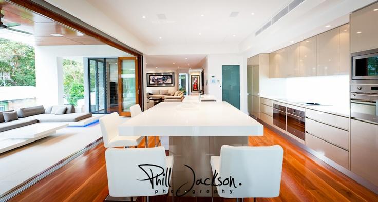 Kitchen in an elegant luxury custom home by G.J. Gardner Homes.