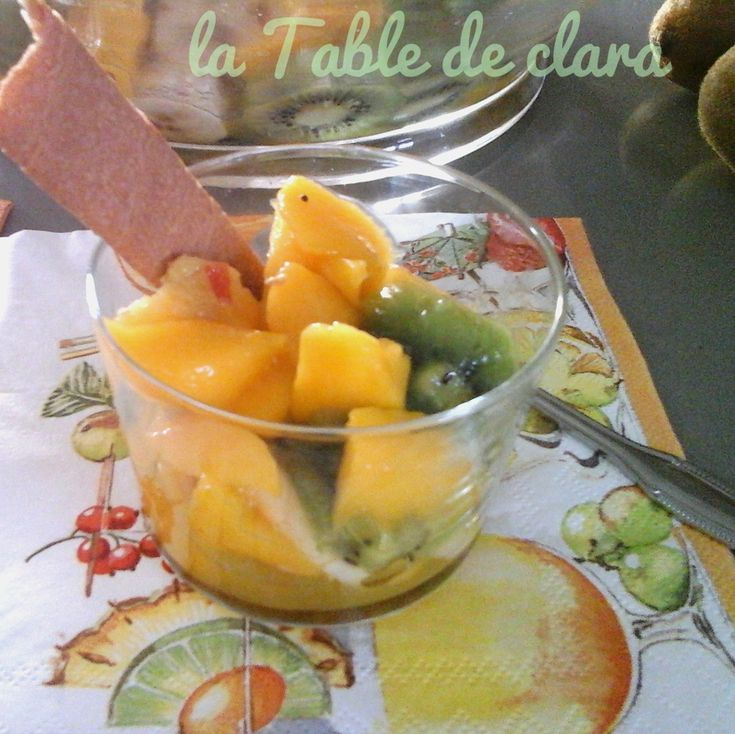 17 best ideas about salade de fruits exotiques on for Decoration salade de fruits