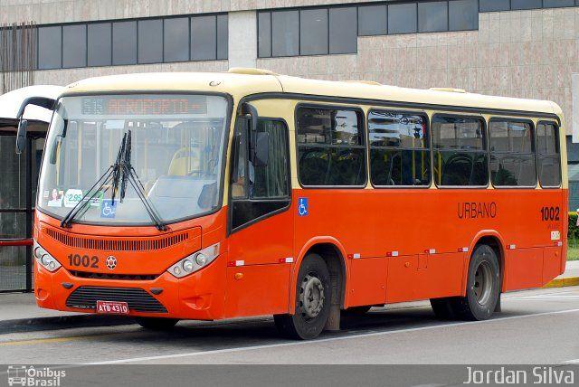 Ônibus da empresa Auto Viação São José dos Pinhais, carro 1002, carroceria Marcopolo Senior Midi, chassi Mercedes-Benz OF-1418. Foto na cidade de São José dos Pinhais-PR por Jordan Silva, publicada em 07/05/2015 17:34:08.
