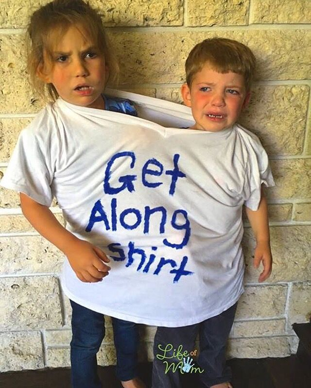 Only had to bust out this get along shirt a few times during a sibling fight and found it to be highly effective!