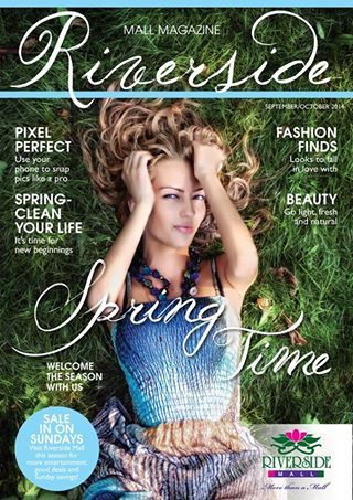 The Spring Edition of the Riverside Mall's Magazine has just been released!  For easy access just click on http://www.bespokemedia.co.za/Digital/Riverside/septemberoctober2014/index.html or when next you're in the Mall, collect your copy from the Information Desk.