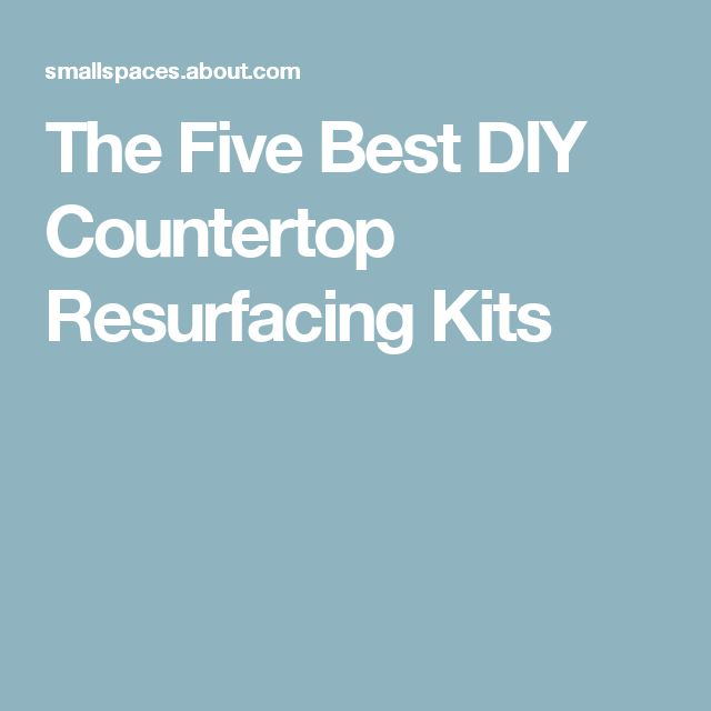 The Five Best DIY Countertop Resurfacing Kits                                                                                                                                                                                 More