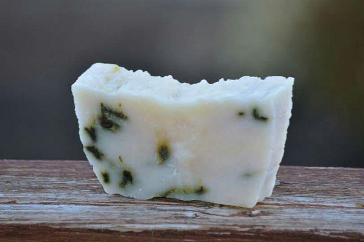 85% Organic coconut oil, Peppermint soap with vitamin E  ~150g https://www.etsy.com/ca/shop/KandJNaturals?ref=hdr_shop_menu