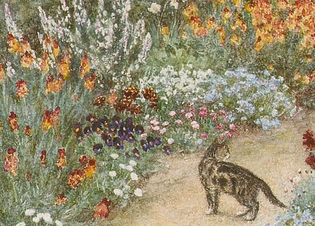 Helen Allingham U0027Near Hambledonu0027(detail) Helen Allingham Was Illustrator Of  The Victorian U2013