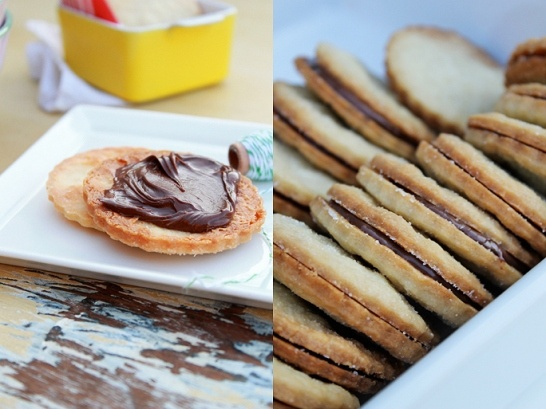 Nutella shortbread cookies. Classy.Treats, Garten Recipe, Food Ideas, Heart Food, Cookies Recipe, Ina Garten, Nutella Shortbread Cookies, Favorite Recipe, Holiday Tasty