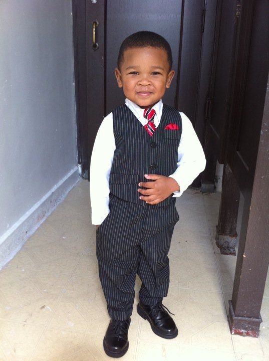 distinguished gentleman in the making...you can always tell if someone feels really good about how they look